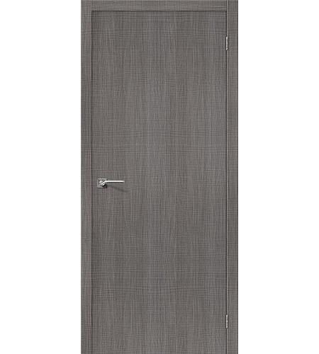 Дверь межкомнатная из эко шпона «Порта-50»  Grey Crosscut глухая
