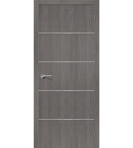 Дверь межкомнатная из эко шпона «Порта-50А-6»  Grey Crosscut глухая