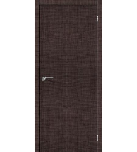 Дверь межкомнатная из эко шпона «Порта-50»  Wenge Crosscut глухая