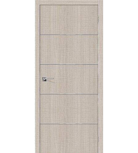 Дверь межкомнатная из эко шпона «Порта-50А-6»  Cappuccino Crosscut глухая