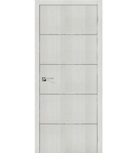 Дверь межкомнатная из эко шпона «Порта-50А-6»  Bianco Crosscut глухая