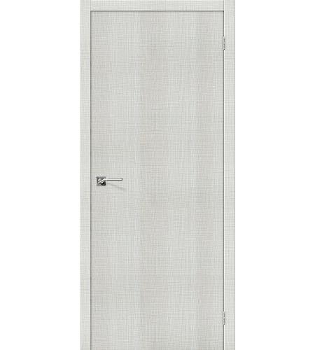 Дверь межкомнатная из эко шпона «Порта-50»  Bianco Crosscut глухая
