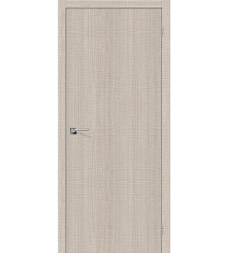 Дверь межкомнатная из эко шпона «Порта-50»  Cappuccino Crosscut глухая