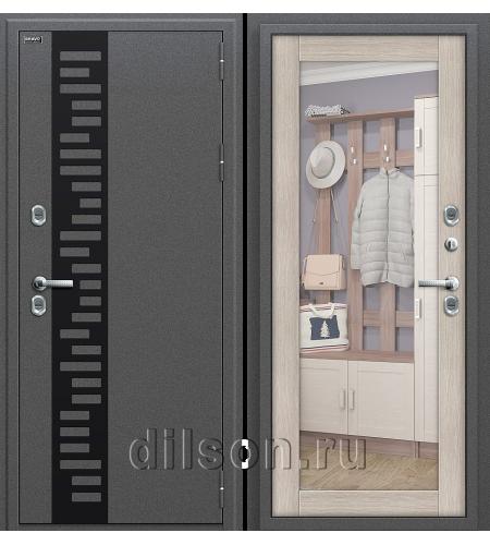 Дверь входная металлическая «Термо 220»  Антик Серебро/Cappuccino Veralinga