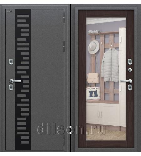 Дверь входная металлическая «Термо 220»  Антик Серебро/Wenge Veralinga