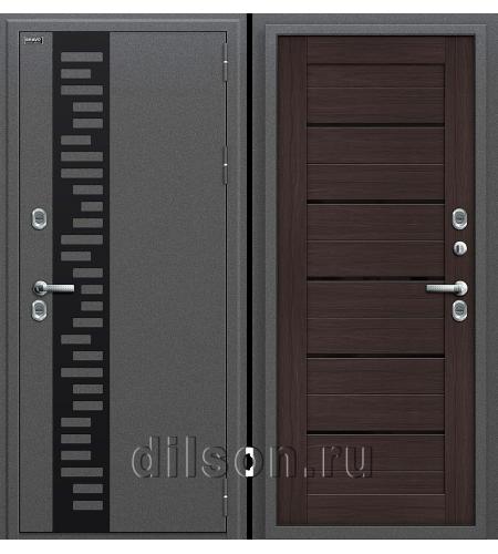 Дверь входная металлическая «Термо 222»  Антик Серебро/Wenge Veralinga