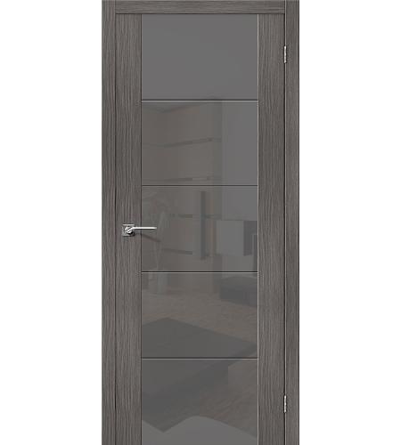 Дверь межкомнатная из эко шпона «V4 S»  Grey Veralinga остекление серый Lacobel